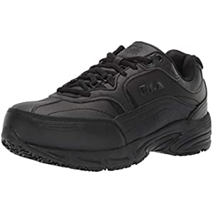 Fila Men's Memory Workshift Slip Resistant Steel Toe Work Shoes Hiking, Black, 11