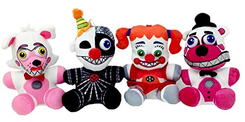 FNAF 10Inch Plush Five Nights at Freddy Plush Set of 4 - Funtime Foxy, Ennard, Circus Baby and Funtime Freddy Plush Toy Stuffed Toys Dolls Gifts for Kids, FNAF Fans||US Stock.