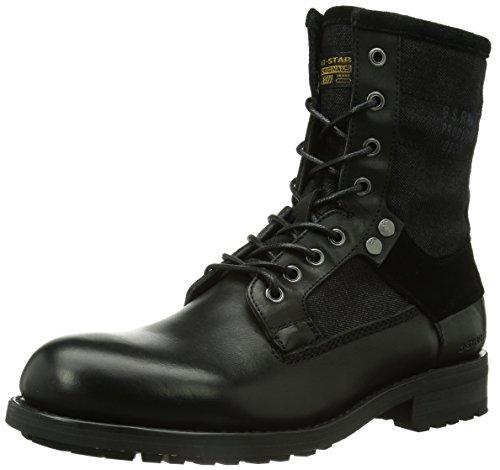 G-Star Footwear Patton V Marker Mix, Bottes Rangers fourrées Homme, Noir (40A Black Leather Denim), 45 EU