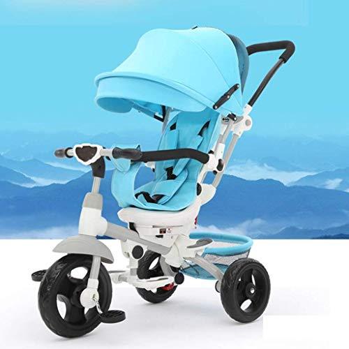Qinmo Los cochecitos de bebé del cochecito de bebé de la bici de la carretilla del triciclo de niños Bicicleta/carretilla bici del bebé cochecillo/asiento se puede girar 360 grados / 1-6 Años de E