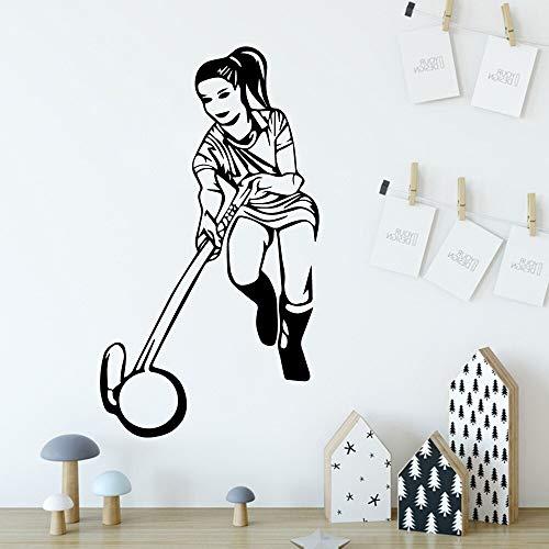 Sport girl mural de pared calcomanías de pared removibles para decoración de habitación de niños pegatinas de pared papel tapiz autoadhesivo impermeable A9 43x76cm