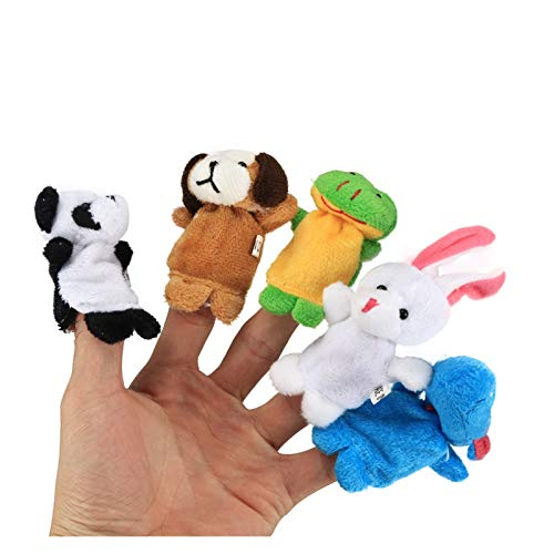 JSJJATQ Peluche Dedo Mano títere handpop Dibujos Animados Divertidos Gadgets interifos Accesorios de Fiesta Familiares interesantes para niños (Color : Green)