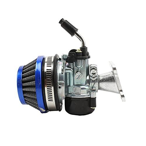 Assemblaggio del filtro aria carburatore a 2 tempi per 49CC 50CC 60 66 80CC Carb Fit Motorized Bike Bicycle Bicycle Mini Bike ATV (Color : Blue)