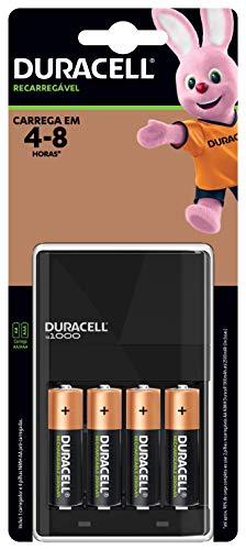 Carregador de Pilhas com 4 pilhas AA, Duracell