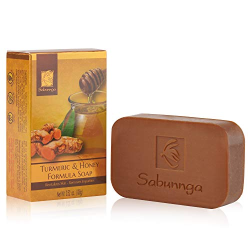 SABUNNGA Turmeric Honey Soap Formula Body Soap Exfoliating Bag