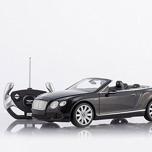 RC Auto kaufen Spielzeug Bild 2: Cabrio Bentley Continental GT schwarz ferngesteuert mit LED-Licht - Maßstab 1:12*