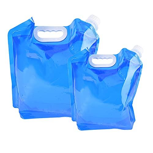 ariel-gxr 2 x Wasserkanister faltbar Tragbar Faltbarer Trinkwasser [5L + 10L] Wasserbehälter Wassertank für Wandern Camping Picknick Travel BBQ
