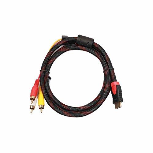 rongweiwang 1.5m HDMI a 3 RCA Video o 3 RCA o AV por componentes Cable Adaptador para HDTV y la mayoría de los proyectores LCD