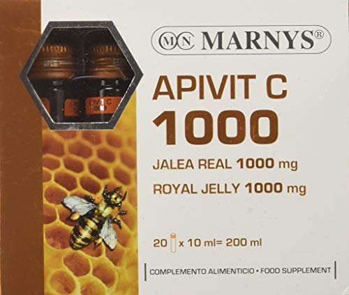 MARNYS Apivit C 1000 mg Jalea Real Pura y Vitamina C 20 Viales