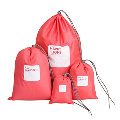Fesjoy 4pcs/Lot Set Bolsa de Viaje de Almacenamiento Impermeable Bolsa de cordón...