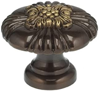 Ornate Mushroom Knob Finish: Shaded Bronze, Size: 1.38