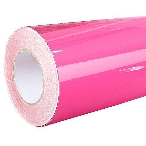 4,60€/m² Rapid Teck Glanz Folie 041 Pink - Klebefolie - 5m x 126cm - Folie selbstklebend - Plotterfolie - auch als Moebelfolie