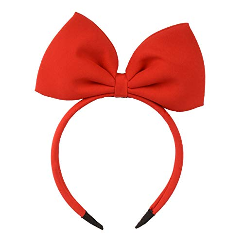 HoveBeaty Hair Band Bow Headbands Headdress for Women and Girls, Perfect Hair Accessories for Party and Cosplay (Red)