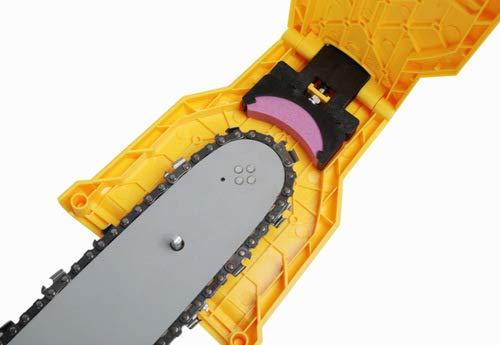 Adoture Kettensägenschärfer Kettensäge Messerschärfer Säge Kettenwerkzeug Holzbearbeitung Schleifkettenwerkzeug zum Schärfen von Steinen für Kettensägekettenspitzer