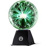 Kicko Green Plasma Ball - 7 Inch - Nebula, Thunder Lightning, Plug-in...