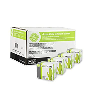 SupplyMaster - SMDTGN8XL - Diamond Texture Nitrile Gloves - Disposable, Powder Free, Industrial, 8 mil