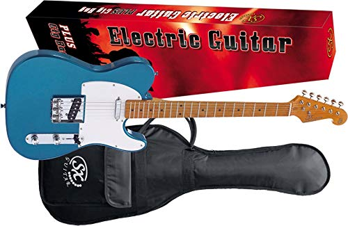 SX STL50+ elektrische gitaar Lake Placid blauw