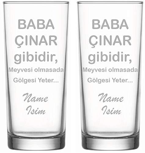 aina Raki Gläser mit Gravur Glas Raki Bardagi Bardak Rakigläser Baba Vatertag mit Name Isim isimli Hediye 2