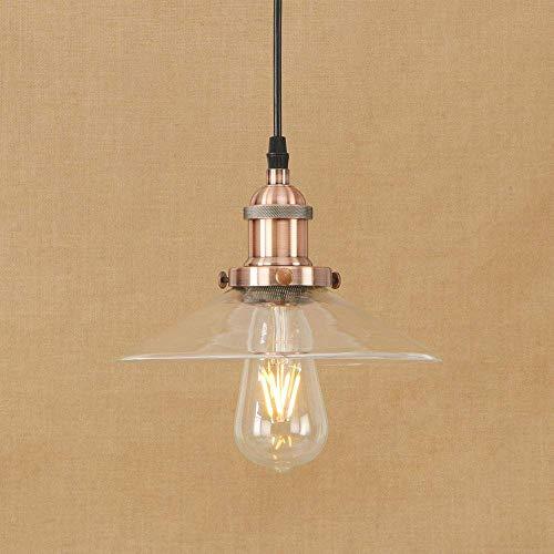Industrie Hanglampen Nordic Vintage Glas Lamp Rusland Loft Keuken Eettafel Verlichting Retro E27 Edison Hanglamp (Kleur : E)