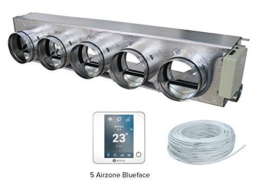 Airzone AM6FUJ01M5CW Pack Easyzone 5 Zonas Cableadas Color Blanco para Fujitsu ACG/ACY/ARYG/ARHG/ARYF/ARXA/ARXB