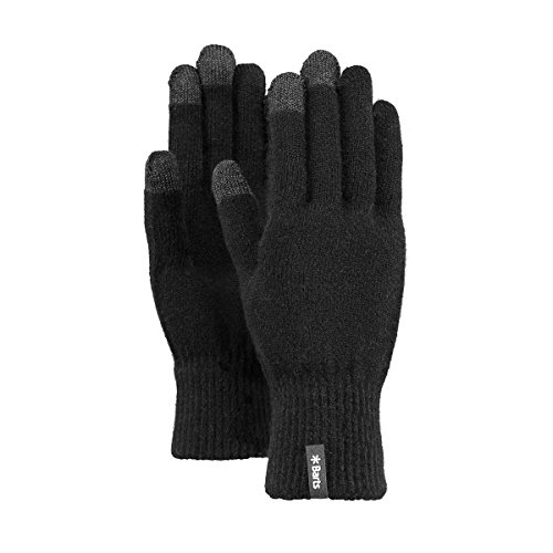 Barts Fine Knitted Touch Gloves Gants, Noir (Black 0001), Medium (Taille Fabricant: S/M) Mixte