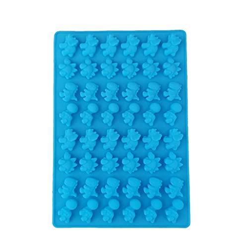 Molde de silicona multiusos Molde de chocolate Molde de hielo Molde suave Molde de caramelo de cocina Herramienta de molde de la torta (Color : Blue)