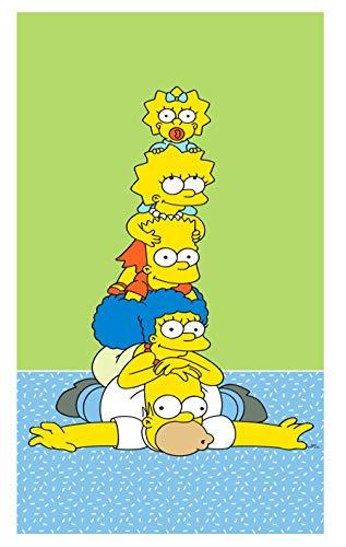 Toalla de mano para niños, 100% algodón, ideal como regalo (Simpsons)