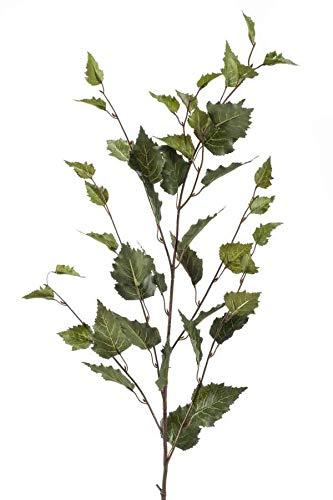 artplants.de Set 5 x Kunstzweig Birkenzweig Klimt, grün, 95cm - Deko Zweig Birke
