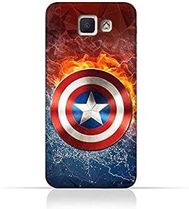 Samsung Galaxy J5 Prime TPU Silicone Protective Case with Shield of Captain America Design