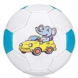 Palloni da Calcio,Calcio per Bambini,Mini Piede Morbido Leggero per Giocare Indoor/Outdoor,Taglia 2 (Size 2, Elefante in BW)