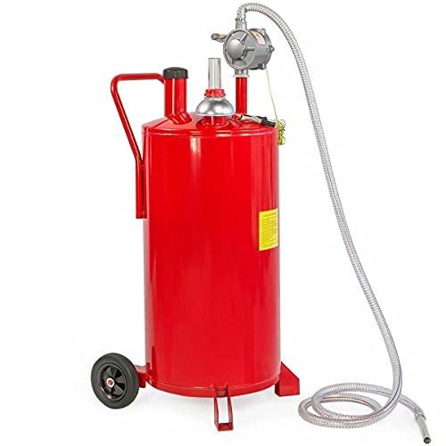 Portable 20 Gallon Gas Caddy Fuel Storage Tank Container Pump Transfer Wheel Car