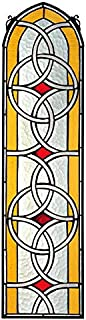 Stained Glass Panel - Celtic Knotwork Stained Glass Window Hangings - Window Treatments