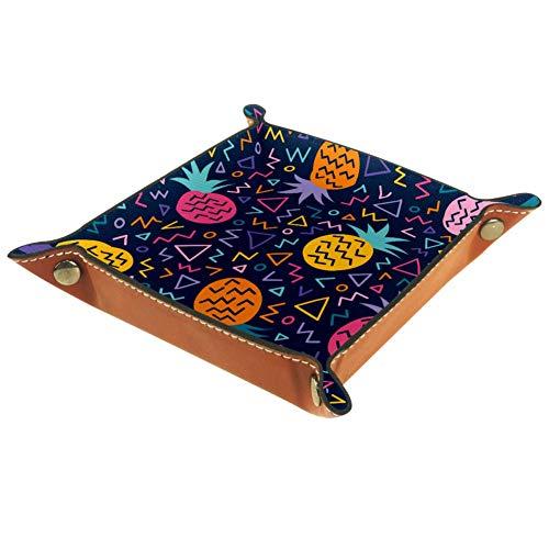 Ameli - Bandeja de piel para mujer, diseño de hebilla de broche...