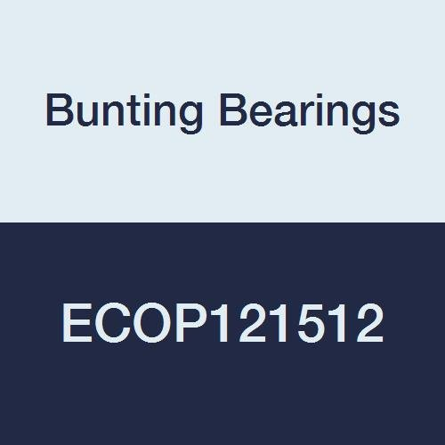"Bunting Bearings ECOP121512 ECO Oiled Sleeve (Plain) Bearing, Powdered Metal, SAE 841, 3/4"" Bore x 15/16"" OD x 3/4"" Length (Pack of 3)"