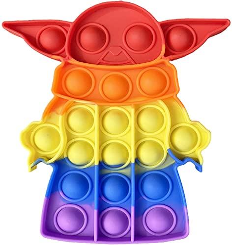 pop it topolino gigante Tpcean Pop Bubble Fidget Tie Dye Push It Toy Yo-da Baby Bubble Popping Game Board Keep Baby Kids Popping (colore C)