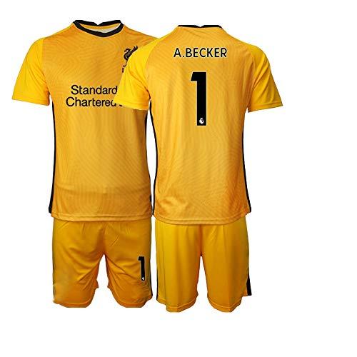 JEEG 20/21 Kinder A.Becker 1# Fußball Trikot Jugend Trainings Anzug T-Shirt Set (Kinder Größe 4-13 Jahre) (20)