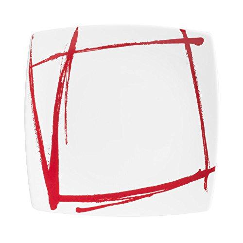 Table Passion - Assiette à dessert Expression Rouge 20 cm (Lot de 6)