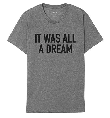 Notorious B.I.G Biggie Hip Hop Rap Lyrics Quotes Unisex T-Shirt (Small, All Dream Gray)