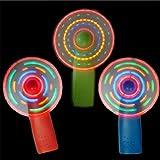 Dorime Mini Ventilateur Lumineux Jouet coloré lumières Pratiques lumière Moulin à Vent Petits Ventilateurs Enfant Plaything Couleur aléatoire Bleu Nouveauté