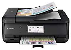 Designed to meet all your needs, from scanning and faxing, a 5 color individual ink system for great looking documents and photos and plenty of connectivity options the Pixma Tr8520 has you covered Connect your smartphone, tablet and all your favorit...