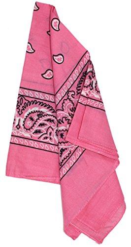 Ted and Jack - Western Style Cotton Cowboy Bandana (Pink)