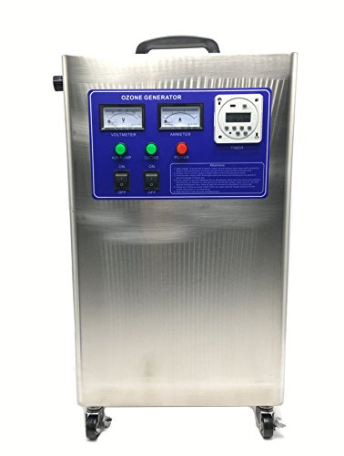 Hanchen Generador de Ozono Industrial 10g/h Ozonizador con Temporizador Comercial Purificador de Aire y Agua Desinfección de Piscinas Fábricas Hospitales