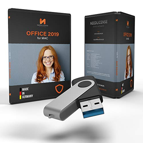 Office 2019 MAC USB Stick - mit Lizenz und inkl. aller aktuellen Updates, auditsichere Lizenz von Needlicense