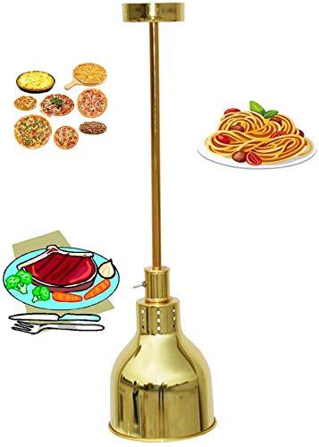 KMILE Colgante Luz Shade Vintage Colgante Luz Techo Metal E27 Lámpara Colgante Función de Calefacción-Cocina, Restaurante, Gourmet For, Brass, 90 * 18.5 (Color : Gold, Size : 70 * 18.5)