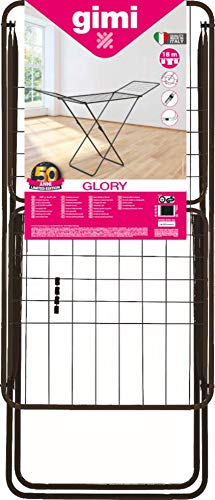 Gimi Tendedero X-Leg Glory, Acero, Negro, 180 x 55 x 93 cm