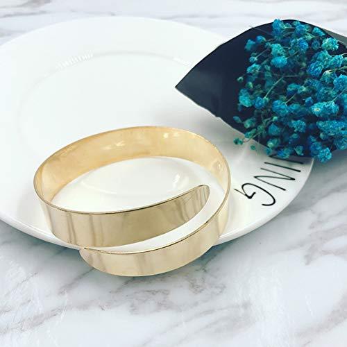DMUEZW Oberarm Armband Neue einstellbare Armreifen Frauen Gold Farbe Arm ManschetteArmbinde Armband Armband Punk Schmuck