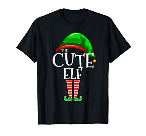 The Cute Elf Group Matching Family Christmas Gift Holiday T-Shirt
