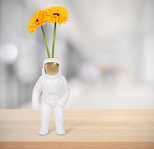 SELETTI Vaso in Porcellana Astronauta Cosmic-Diner-Starman Cm.15X11 H.28