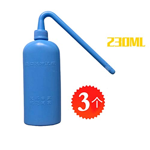 FHSGG 3 Pcs Colostomy Bag Cleaning Tool - Stoma Bag Washing Bottle Rinse Pot for All Ostomy Bags - Reusable Wash Bottle 230ML
