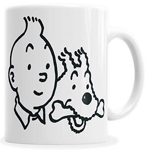 HYPSHRT Tasse Kaffeebecher Weiß Tim und Struppi C000004